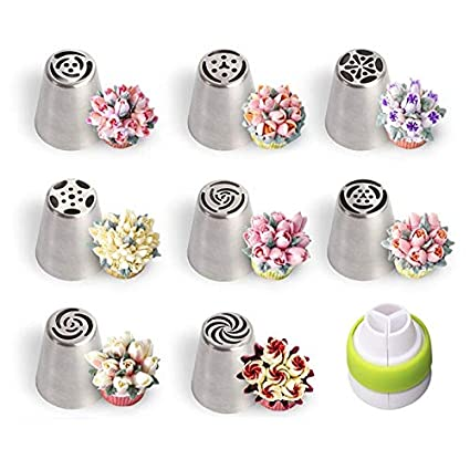 Amazon Com Atuki Decorating Tip Sets Russian Piping Tips Stainless