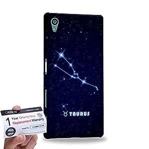 Case88 [Sony Xperia Z5] 3D impresa Carcasa/Funda dura para & Tarjeta de garantía - Art Universe Taurus 12 Zodiacal