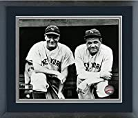 "Lou Gehrig & Babe Ruth New York Yankees MLB Action Photo (Size: 18"" x 22"") Framed"