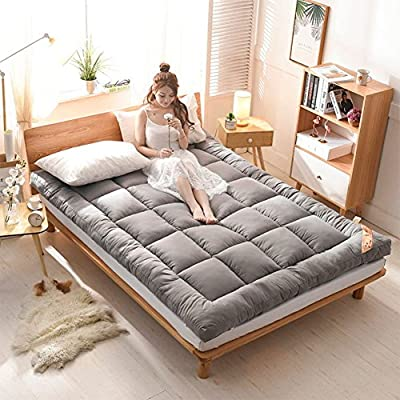 Lightweight Thickened Mattress Topper, Ddouble Futon Mattress Ultra Soft Fiber Mattress Topper Student Dormitory Single
