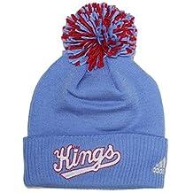 Sacramento Kings Adidas NBA Hardwood Classics Cuffed Knit Hat with Pom