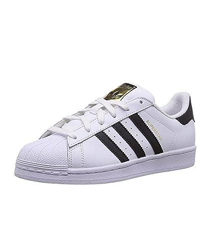 adidas Superstar J C77154 Unisex Sneaker - weiß/schwarz, Gr. 37 1/3