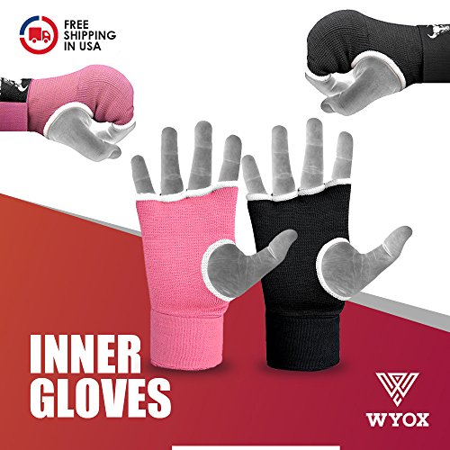 Wyox Boxing Inner Gloves Gel Padded Hand Wraps Fist Bandages MMA Thai Muay Training