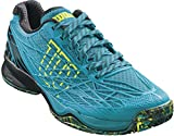 Wilson Kaos Men's All Court Tennis Shoe-10 D(M) US-Enamel Blue/Black/Safety Yellow