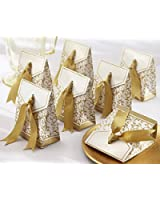 Gold Ribbon Wedding Favor Boxes