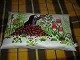 White Krtek Pillow - Little Mole Pillow - Kisvakondos Parna - Maulwurf / Hand Made in Czech Republic / Zdenek Miler