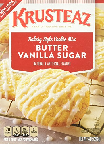 Mix Krusteaz Cookie (Krusteaz Bakery Style Cookie Mix, Butter Vanilla Sugar, 14 Ounce Pack of 2)