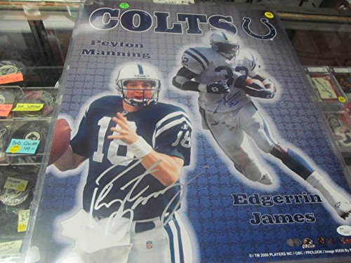 Peyton Manning/Edgerrin James Indianapol - Indianapolis Colts Signed 16x20 Photo Shopping Results