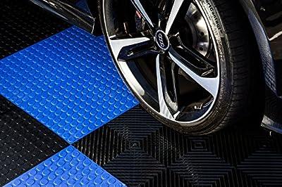 """IncStores Nitro Garage Tiles 12""""x12"""" Interlocking Garage Flooring"""
