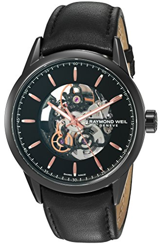 Raymond-Weil-Mens-Freelancer-Swiss-Automatic-Stainless-Steel-and-Leather-Casual-Watch-ColorBlack-Model-2715-BKC-20021