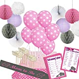 Stork-Station--Elephant-Love-Baby-Shower-Decoration-Kit-44-pieces-Pink-and-Gray-Elephanttheme-for-girls--2-Bab