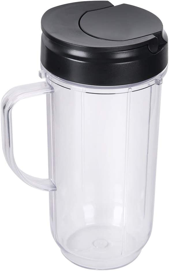 Joyparts Replacement Parts 22oz Tall Mug cup with Flip Top To-go Lid for Magic Bullet 250W MB1001Blender Juicer