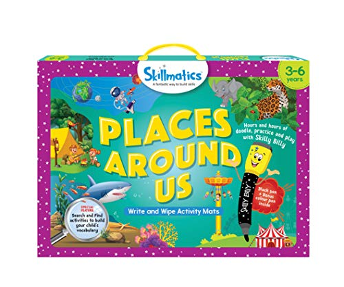 Skillmatics Educational Game: Places Around Us (3-6 Years) | Search and Find Activities for Kids