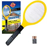 Elucto Large Electric Bug Zapper Fly Swatter Zap Mosquito Best for Indoor and Outdoor Pest Control (2 DURACELL AA...