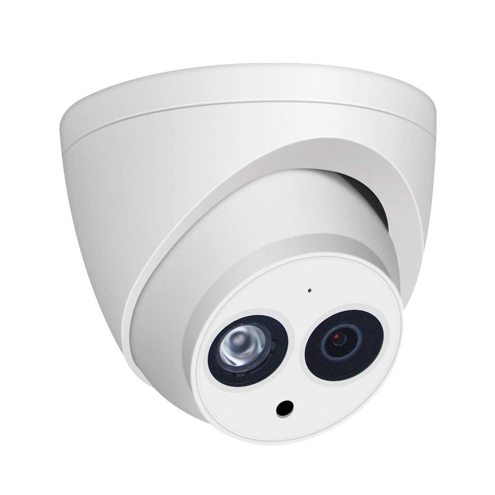 4MP HD Security POE IP Camera, IPC-HDW4433C-A 2.8mm lens, Home Outdoor Network Surveillance Eyeball Dome Camera with Built-in MIC, 165ft Smart IR Night Vision H.265 WDR IP67 ONVIF