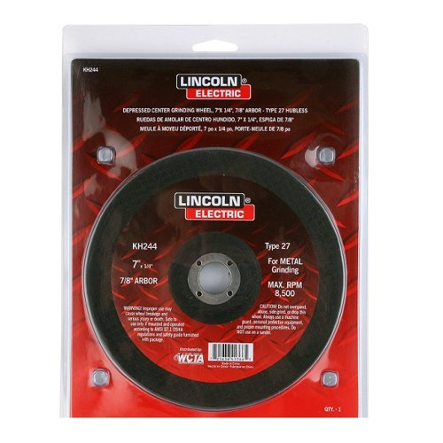 Hubless Trucks (Lincoln Electric KH244 Depressed Center Grinding Wheel, Aluminum Oxide, 8500 rpm, 7