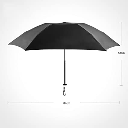 Paraguas Sombrilla Mini Ultraligera Sombrilla Tri-Plegable Protección Solar Clima UV Sombrilla Doble Plegable QIQIDEDIAN