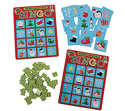 Fun Express - Christmas Bingo Game - Christmas Item for Boys and Girls of All Ages - Great for the -
