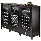 Winsome Wood 3-Piece Wine Cabinet Modular Set For Sale