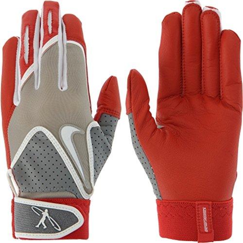 Nike大人用Swingmanバッティング手袋(レッド、M ) B01M0W17FX