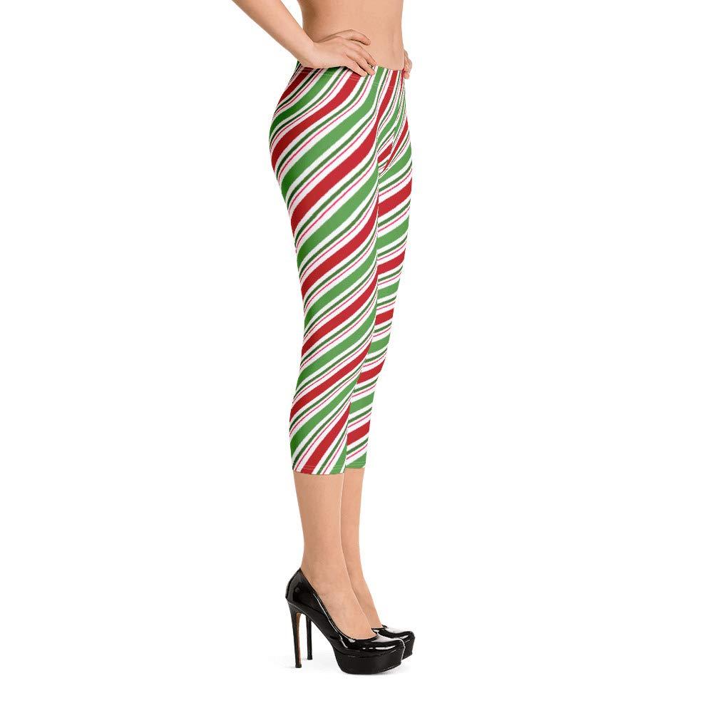 Peace River Designs Candy Cane Capri Leggings
