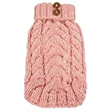 FouFou Dog 62619 Cityscape Sweater for Dogs, 2X-Large, Baby Pink