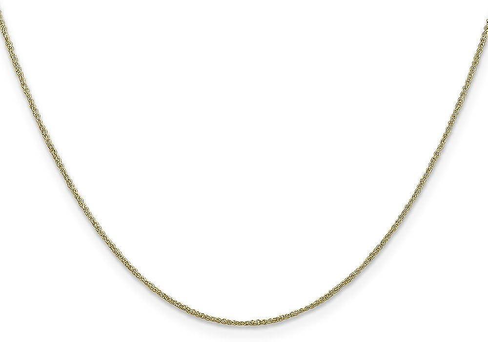 Brilliant Bijou Genuine 14k Yellow Gold .70mm Ropa 20 inches