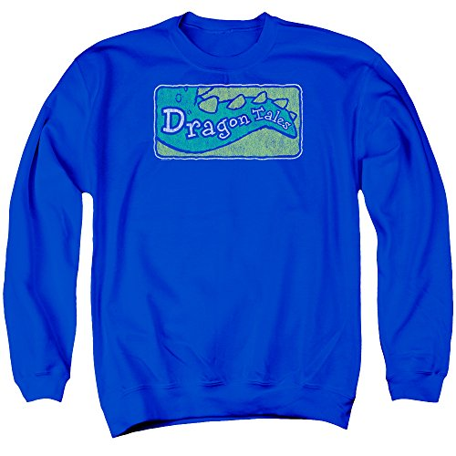 Dragon Tales Animated PBS Series Show Logo Distressed Adult Crewneck Sweatshirt