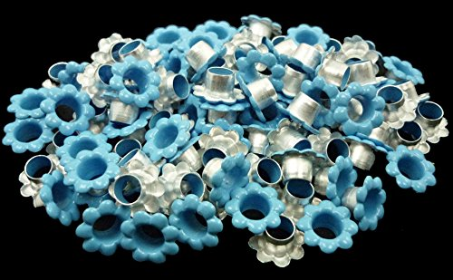 ARTS AND CRAFTS SUPPLIES 100pcs Aluminium Blue Flowers Eyelets Scrapbooking Card Hole LeatherCraft Snap Punch E065