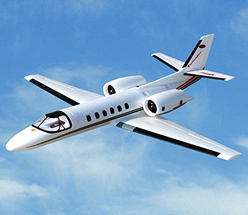 White Twin Jet - DYNAM RC Airplane Cessna 550 Turbo Jet White Twin 64mm EDF - BNP