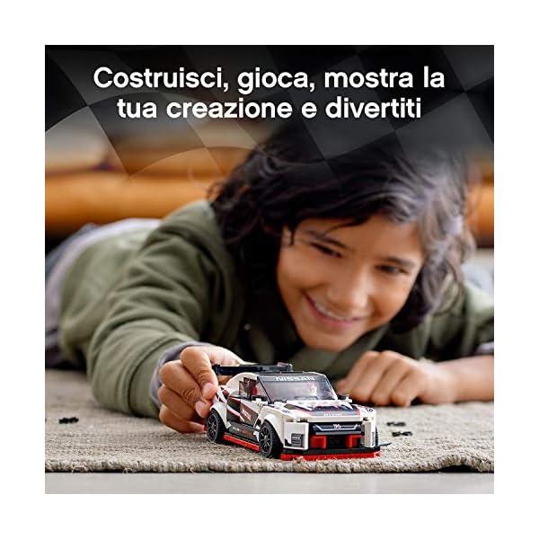 LEGO Speed Champions Nissan GT-R NISMO con Minifigure, Modello Realistico e Molto Dettagliato della Famosa Auto Sportiva… 3 spesavip