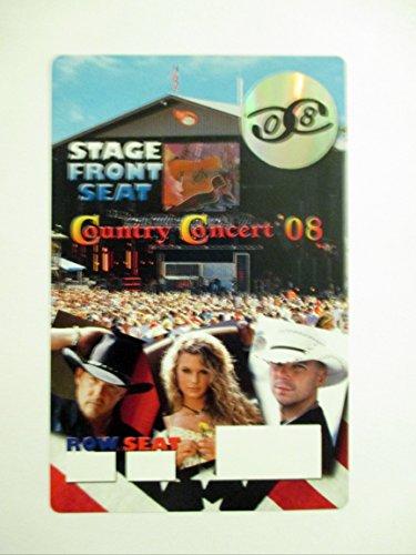 2008 Unused Backstage Ticket Pass Kenny Chesney Taylor Swift, Josh Turner, Rodney Adkins, Phil Vassar The Beach Boys Neal McCoy Lady Antebellum Kelly Pickler (Taylor Swift Backstage Pass)