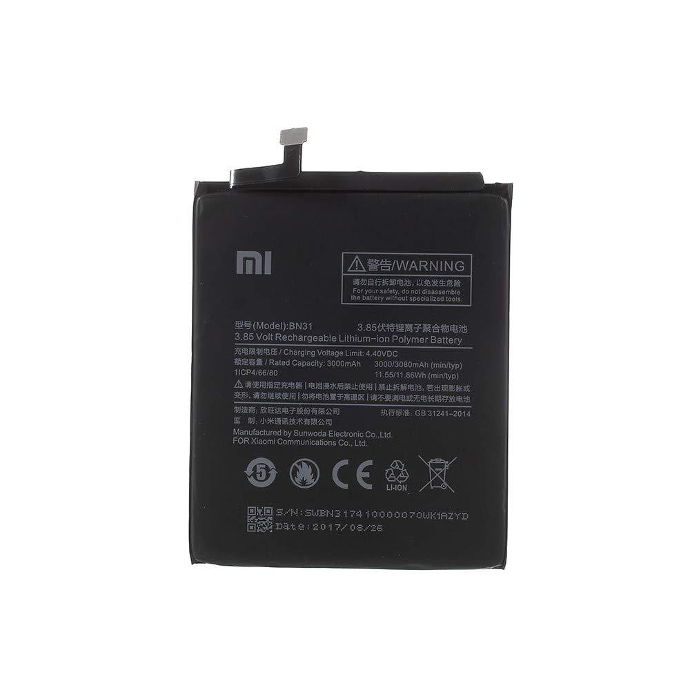 REDMI Note 5A BEST2MOVIL BATERIA Interna BN31 3000 mAh Compatible con XIAOMI MI A1 5X 5A Prime