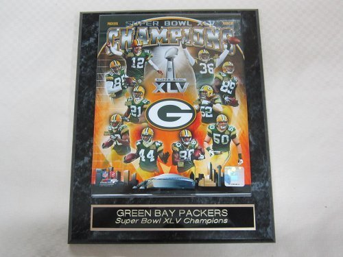 Green Bay Packers Super Bowl XLV Champions Collector Plaque #1 w/8x10 Photo