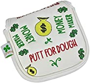 Foretra – Putt for Dough - Money Maker White Golf Putter Headcover Quality PU Leather Magnetic Closure for Squ