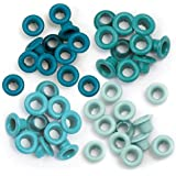 We R Memory Keepers Eyelets for Scrapbooking, Aqua, Standard