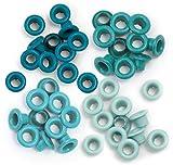 We R Memory Keepers Eyelets for Scrapbooking, Aqua, Standard