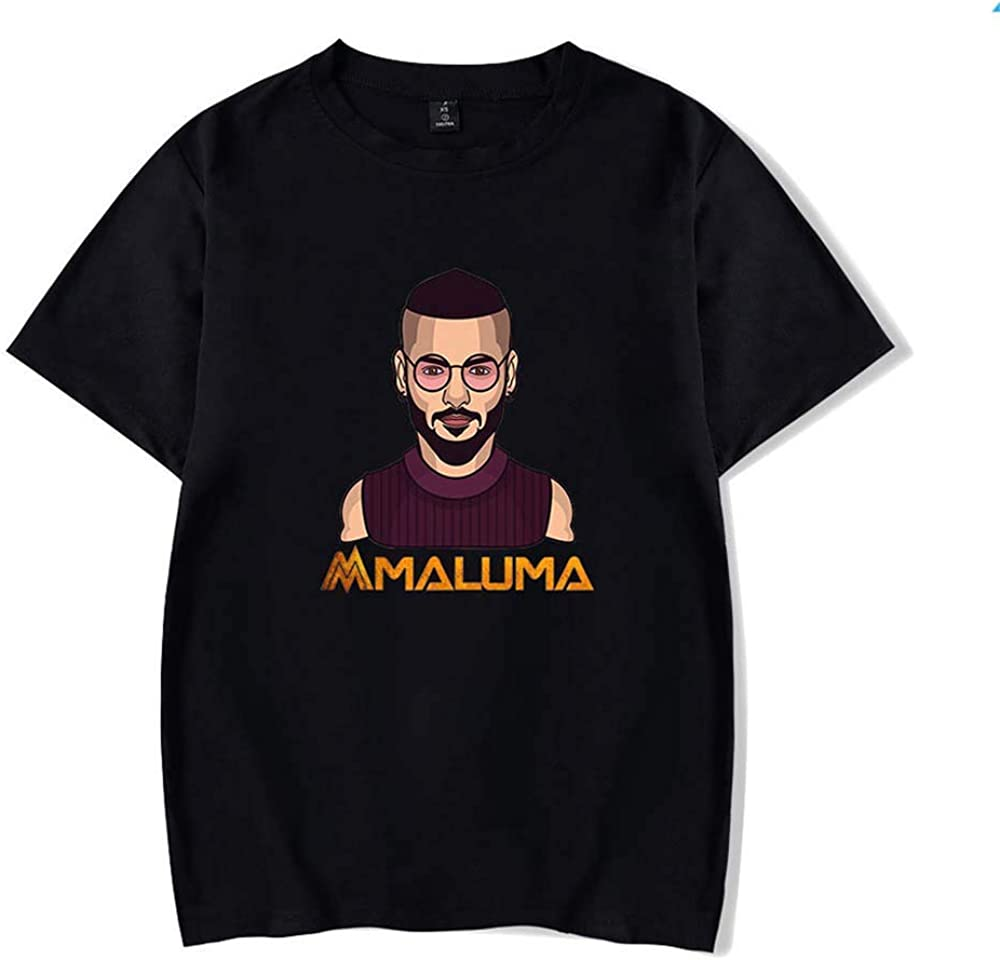 Jonail Camiseta de Manga Corta Maluma Peripheral Casual ...
