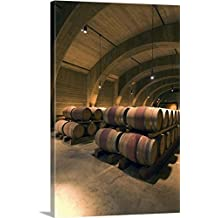 Rob Tilley Premium Thick-Wrap Canvas Wall Art Print entitled British Columbia, Okanagan Valley, Westbank, Mission Hill Estate Winery Wine Cellar