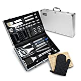 Image of Vysta 29 Piece BBQ Tools Set - Barbecue Accessories With Carrying Case - Professional Grade Stainless Steel Grill Utensils - Spatulas, Tongs, Forks Skewers, Knives, Brushes and More - by
