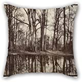 Oil Painting Eug??ne Atget - Saint-Cloud (gardens Of The Chateau Of Philippe Duc D'Orleans) Pillowcover 16 X 16 Inches / 40 By 40 Cm Best Choice For Home Theater Gril Friend Chair Kids Room Father
