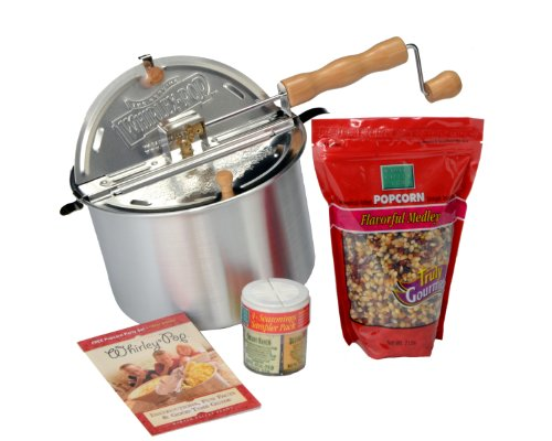 - Whirley Pop 24007-AMZ Whirley-Pop Seasoning & Popcorn & Seasoning Sampler Set, Silver
