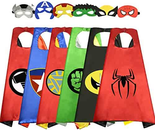 Tisy Fun Cool Cartoon Satin Capes for Kids - Best Gifts