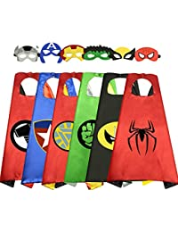 Superhero Capes for Kids Cool Halloween Costume Cosplay Festival Party Supplies Favors Dress Up Cloth Gifts for 3-12 Year Old Boys Girls Teen Toys Age 3-10 Xmas Christmas Stocking Filler Stuffers