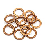uxcell® 12Pcs 30mm OD Metal Motorcycle Exhaust Pipe Muffler Flange Gasket for GY6 125cc