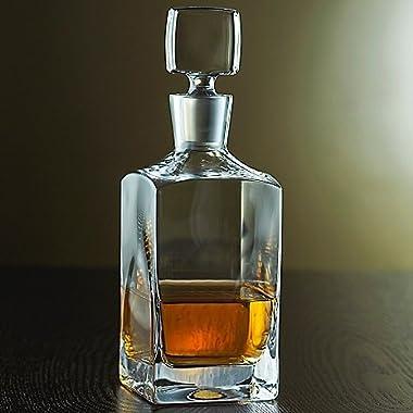 Denizli Spirits Old-Fashioned Whiskey Bottle Handmade Crystal Decanter 35 Oz - Lead Free