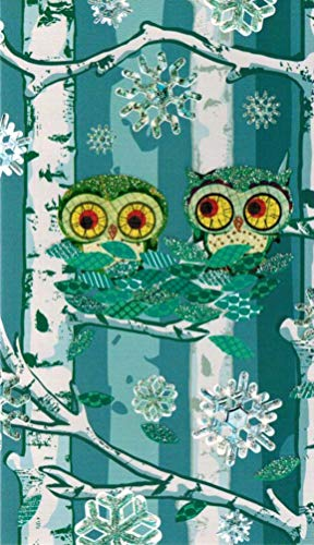 Roger la Borde Owls in Tree Boxed Christmas Cards Box of -