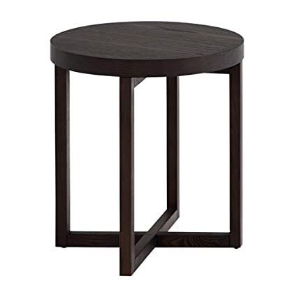 Amazon.com: Coffee Tables, Study Round Small Solid Wood Side Table ...
