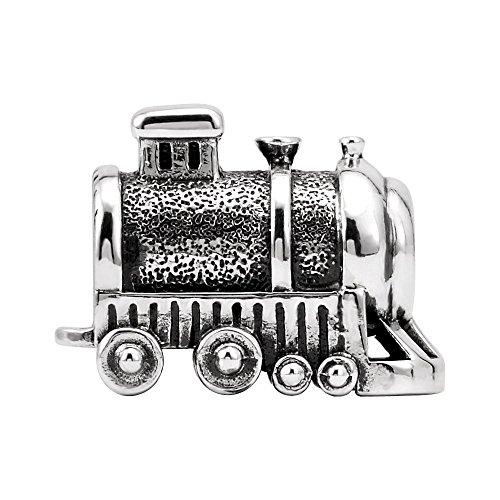 Gold Solid 10k Train (Sterling Silver 14x10.3mm Polished Kera Train Bead Charm)