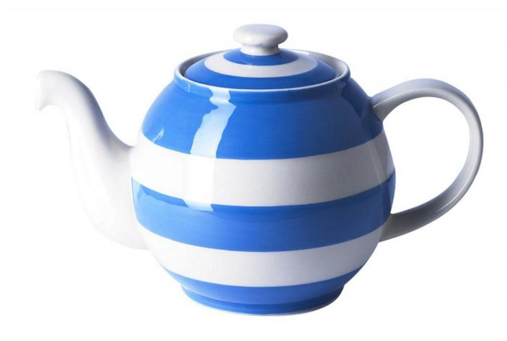 Cornishware Blue and White Stripe Large Betty Teapot, 6 Cup